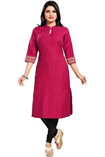 COTTON SILK 3//4 SLEEVE WOMEN FASHION INDIAN KURTA KURTI TUNIC TOP SHIRT MM177