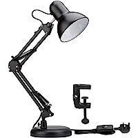 Lepro LED Desk Lamp, Clamp on Swing Arm Table Lamp, E27 Bulb Holder, Classical Swing Arm Architect Lamp, Flexible Desk…
