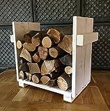Camino Caminetto in legno a ripiani per legna da ardere, legno supporto ripiani in legno bianco
