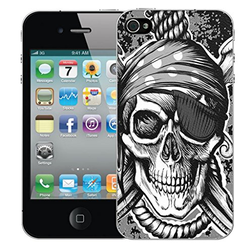 Mobile Case Mate iPhone 4 clip on Dur Coque couverture case cover Pare-chocs - noir hanging skull Motif avec Stylet black hanging skull
