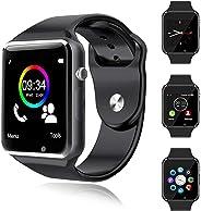 Smartwatch Bluetooth Telefono Touch con SIM Slot Orologio Intelligente per Android Orologio Fitness Uomo Donna WhatsAPP Noti