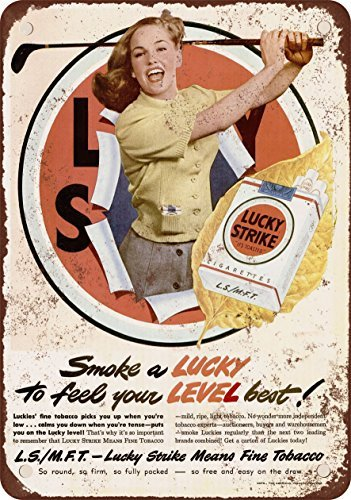 1949Lucky Strike Sigarette e Golf Vintage Look Reproduction Metal Tin Sign 20,3x 30,5cm