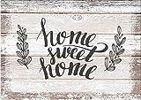 artissimo, Dekopanel, Deco Panel, ca. 30x20cm, PE5785-PA, Home Sweet Home, Bild mit Spruch, Spruchbild, Wandbild, Wanddeko, Wanddekoration