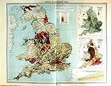 Telecharger Livres Population Angleterre Pays De Galles de Densite de Carte Couleur 1903 (PDF,EPUB,MOBI) gratuits en Francaise