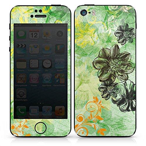 Apple iPhone 4 Case Skin Sticker aus Vinyl-Folie Aufkleber Blumen Ornamente Blüten DesignSkins® glänzend