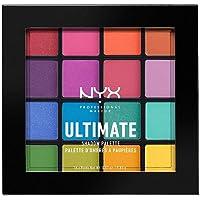 NYX Professional Makeup Palette Ombretti Ultimate Shadow Palette, Pigmenti Pressati, 16 Tonalità, Effetto Opaco…