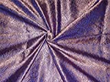Silk Brokat-Stoff violett blau und Old Rose 111,8 cm
