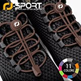RJ-Sport Elastic No Tie Shoelaces, No tie Elastic Lace System with lock - Easy to install in a range of colours. Great for runners, children, older generation & active lifestyles - 1 Pair