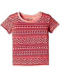 Gini & Jony Boys' T-Shirt (121246515055 C457_Fiery RED(C457)_2)