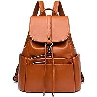 SkyTheme Backpack Anti-Theft Bookbag Travel Rucksack Shoulder Bag For Girls & women (Colour: Brown)
