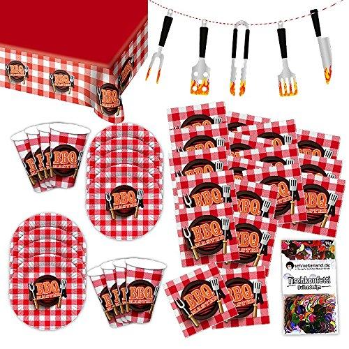 Folat BBQ Meat Party Grillmeister Party Set XL 39-teilig für 8 Gäste Grillparty Deko Partypaket