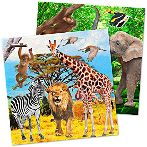 Folat Safari Party 5FL62002 - Servilleta, 33 x 33 cm, multicolor