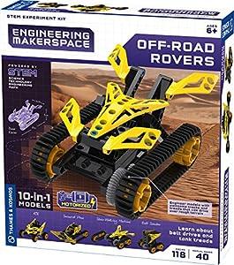 Thames & Kosmos 555063 - Kit de experimentos de ingeniería para Makerspace Off-Road Rovers Science, Multi