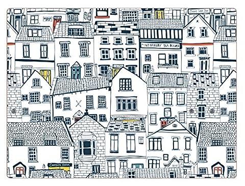 I Style maisons côtières Sets de table, Liège, Multicolore, Lot de 4