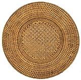 Caspari HDP01 PlatzTeller, rund, Rattan und Korb, braun, 30 x 30 x 1,25 cm