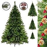 Weihnachtsbaum Christbaum künstlicher Tannenbaum 180 cm mit 1100 Zweige in grün