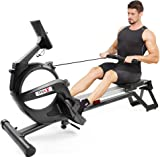 Dripex Magnetic Rowing Machine for Home Use, Super Silent Indoor Rower with 15-Level Adjustable Resistance, Double Aluminum S