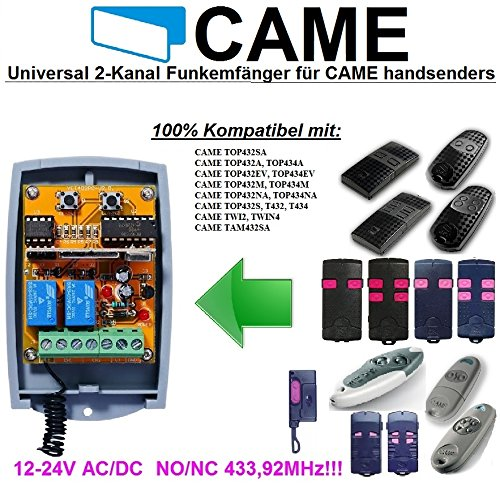 CAME compatible universal 2-kanal Funkempfänger12-24 VAC/VDC für CAME remotes