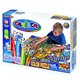 Carioca 42025 - Adventures Confezione Maxi Puzzle, 100 x 70 cm/35 Pezzi, Bifacciale Interamente da Colorare con 36 Pennarelli immagine