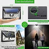Litom Solarleuchten, 24 LED Wandleuchte Außen, Solar Betriebene Außenleuchte, Wasserdichte 3 Modi Sicherheit Licht für Garten, Zaun