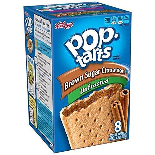 Kelloggs Pop-Tarts Blueberry Cherry Raspberry Chocolat Smore Cookies and Creme Cinamon Rolls Chip Confetti Cupcake Brown Sugar Fugde Sunday Grape Strawberry (Brown Sugar Cinnamon Unfrosted) (S Mores Pop Tarts)