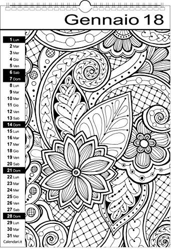 Calendar 2018Mandala Colouring