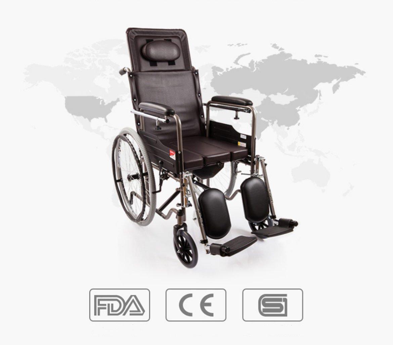 61mK gB6hnL - M-CH silla de ruedas Tipo plegable de la mitad-mentira, con los pies ortopédicos, con la cómoda Sillas de ruedas eléctricas