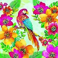 Confezione da 20tovaglioli 33x 33cm Paradiso pappagallo vacanza nei mari del sud