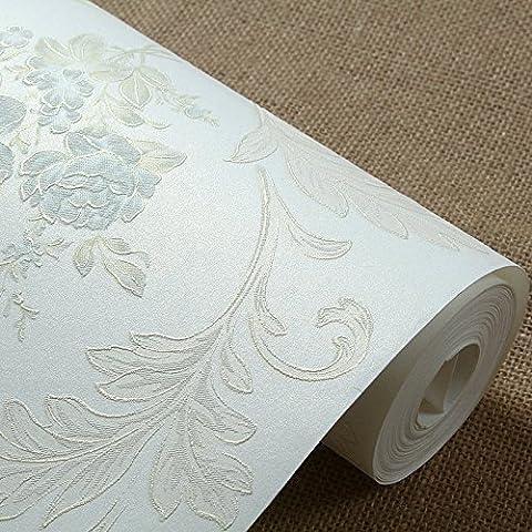 VanMe European-Style Land Blumen-Tapete 3D Non-Woven Tapete Im Wohnzimmer Schlafzimmer Bett Warm Pink Ehe Raum, Elegante Cheong Wa, 0,53M * 10M
