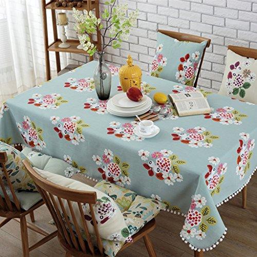 Coton et lin Nappes Drapeau de table Serviette en tissu de couverture de café Placez le tapis Set de table modèle plante fleurs élégant Distingué ( Color : Red , Size : 140*140cm (square) )