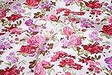 Pink & Lila Blumen 100% Baumwolle Stoff Meterware 160cm Super breite