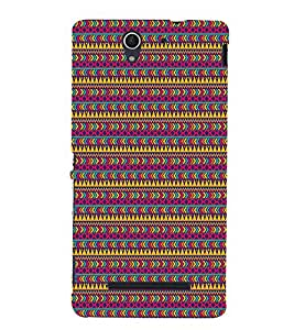 Arrow Pattern 3D Hard Polycarbonate Designer Back Case Cover for Sony Xperia C3 Dual D2502 :: Sony Xperia C3 D2533