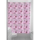 Sourpuss Clothing Zombie cortina de ducha de conejo rosa