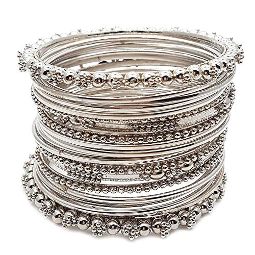 Efulgenz Indian Bollywood Traditional Wedding Jewellery Oxidised Plated Designer Bangles Set for Women and Girls