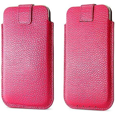 Funda iPhone 7 Plus,BELK funda iphone 6 plus/6s plus---Cuero de lujo Natural piel calidad antidesizantes magmle/ bolsa blanda con lengüeta caso piel,Simple rose, iPhone 6 plus/6s plus case