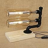 LED Steampunk Schreibtisch Licht Schmiedeeisen Tischlampe Vintage Retro Schlafzimmer Nacht Antike Tischplatte Beleuchtung Dekorative Wohnzimmer (Color : Style D)