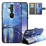 LFDZ Handyhülle für Nokia X71 Hülle,Premium 2 in 1 Abnehmbare PU Ledertasche für Nokia 6.2 Hülle,RFID-Blocker Flip Case Brieftasche Etui Schutzhülle für Nokia X71 Hülle/Nokia 6.2 Hülle,Starry Night