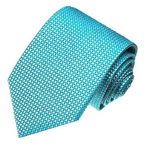 LORENZO CANA - Design Krawatte aus 100% Seide - Türkis Hellblau mit Punkten - 84404 (Türkis Handtasche Designer Italienischen)