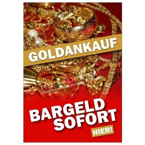 Werbeposter für den Goldankauf A1, Werbeplakat Plakat Poster Gold Bargeld