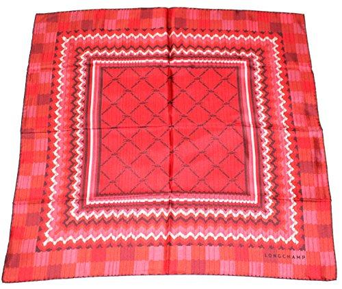 longchamp-seidentuch-geometrische-motive-rot-schwarz-67-x-67cm-scarve