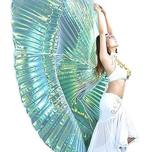 Calcifer, Isis-Flügel für orientalischen Tanz, ägyptisches Tanzkostüm-Zubehör., Silver Blue&Gold