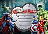 boys Birthday Party Invitations Super hero.Marvel hero,Avengers X 10 CARDS X +FREE ENVELOPS