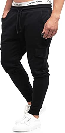 Indicode Bendner Cargo Pantaloni da jogging in 60% cotone | Regular Fit pantaloni da allenamento, pantaloni da corsa, pantaloni sportivi, pantaloni cargo, pantaloni da uomo, per il tempo libero