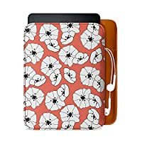DailyObjects Flower & Butterfly 10 Real Leather Sleeve Case Cover For Amazon Kindle Paperwhite