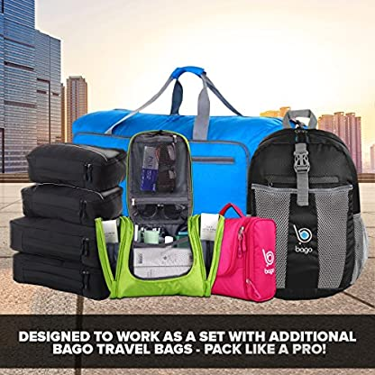 Bago-Reisetasche-Sporttasche-fr-Mnner-und-Frauen-60L-80L-Duffle-Bag-mit-schuhfach-fr-Gepck-Weekender-Travel-Gym-trainingstasche-saunatasche