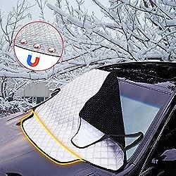 Auto Sonnenschutz Frontscheibenabdeckung Frontscheib Abdeckung Schneeschutz Autoscheibenabdeckung Windschutzscheibe Faltbare Abnehmbare Schutz vor UV-Strahlung Hitzeschutz Staub Dreck 191 x 99 cm