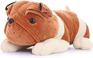 Chocozone 60cm Huge Brown Bulldog Soft Toy Cushion for Kids & Babies Stuffed Pillow