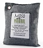 Moso Natural Air Purifying Bag 500g Charcoal Color Naturally Removes Odors, Allergens and Harmful Pollutants. Prevents Mold, Mildew And Bacteria From Forming By Absorbing Excess Moisture. Fragrance Free, Chemical Free And Non Toxic. Reuse For Up To Two Ye