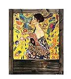 Lampe aus Holz Klimt–Frau mit Fächer