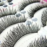 Generic 10mm : 50 Pairs Black False Eyelashes Make-up Tools Natural Long Eye Lashes Extensions Individual Fake Eyelashes Makeup False Lashes